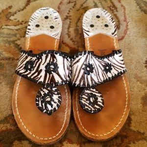 RARE JACK ROGERS Zebra Pattern sandals
